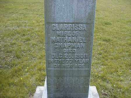 CHAPMAN, CLARRISSA - Brown County, Ohio | CLARRISSA CHAPMAN - Ohio Gravestone Photos