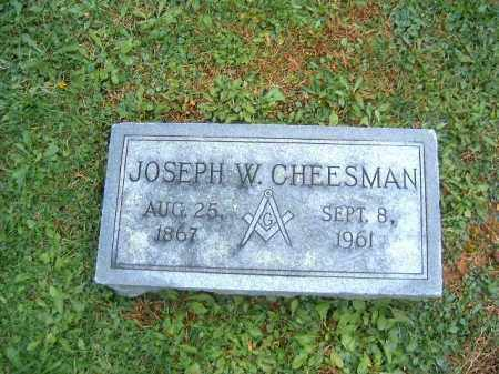 CHESSMAN, JOSEPH W - Brown County, Ohio | JOSEPH W CHESSMAN - Ohio Gravestone Photos