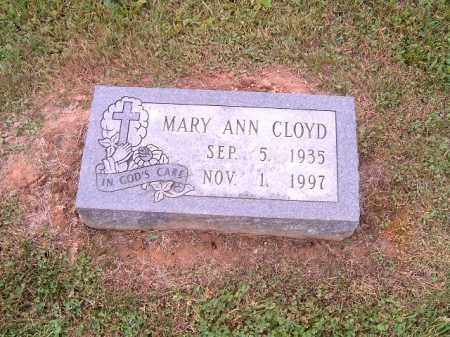 CLOYD, MARY ANN - Brown County, Ohio | MARY ANN CLOYD - Ohio Gravestone Photos