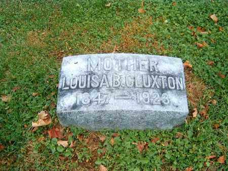 CLUXTON, LOUISA   B - Brown County, Ohio | LOUISA   B CLUXTON - Ohio Gravestone Photos
