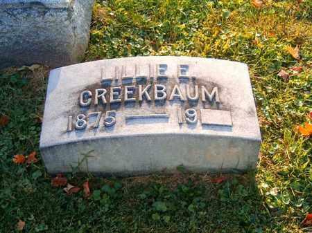 CREEKBAUM, LILLIE   E - Brown County, Ohio | LILLIE   E CREEKBAUM - Ohio Gravestone Photos
