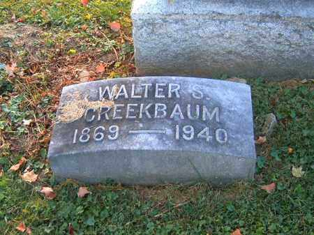 CREEKBAUM, WALTER  S - Brown County, Ohio | WALTER  S CREEKBAUM - Ohio Gravestone Photos