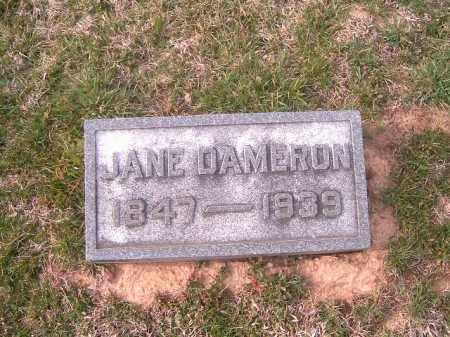 DAMERON, JANE - Brown County, Ohio | JANE DAMERON - Ohio Gravestone Photos