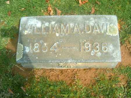 DAVIS, WILLIAM  A - Brown County, Ohio | WILLIAM  A DAVIS - Ohio Gravestone Photos