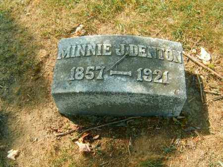 DENTON, MINNIE  J - Brown County, Ohio | MINNIE  J DENTON - Ohio Gravestone Photos