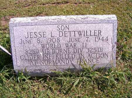 DETTWILLER, JESSE  L - Brown County, Ohio | JESSE  L DETTWILLER - Ohio Gravestone Photos