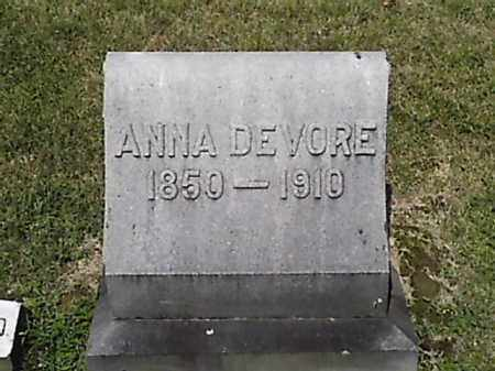 DEVORE, ANNA - Brown County, Ohio | ANNA DEVORE - Ohio Gravestone Photos