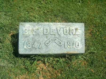 DEVORE, B F - Brown County, Ohio | B F DEVORE - Ohio Gravestone Photos