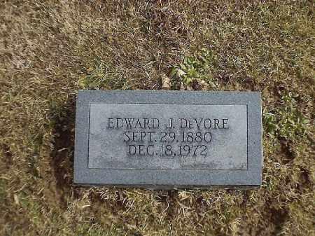 DEVORE, EDWARD  J - Brown County, Ohio | EDWARD  J DEVORE - Ohio Gravestone Photos