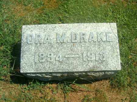 DRAKE, ORA   M - Brown County, Ohio | ORA   M DRAKE - Ohio Gravestone Photos