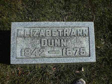 DUNN, ELIZABETH  ANN - Brown County, Ohio | ELIZABETH  ANN DUNN - Ohio Gravestone Photos