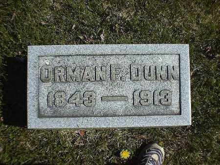 DUNN, ORMAN   F - Brown County, Ohio | ORMAN   F DUNN - Ohio Gravestone Photos