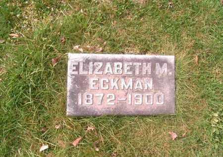 ECKMAN, ELIZABETH   M - Brown County, Ohio | ELIZABETH   M ECKMAN - Ohio Gravestone Photos
