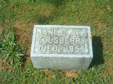 CLARK ELLSBERRY, JANE - Brown County, Ohio | JANE CLARK ELLSBERRY - Ohio Gravestone Photos