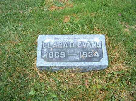 EVANS, CLARA  D - Brown County, Ohio | CLARA  D EVANS - Ohio Gravestone Photos