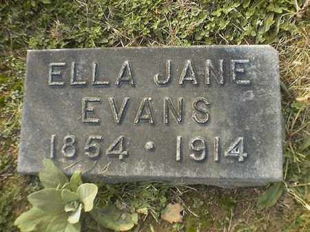 EVANS, ELLA  JANE - Brown County, Ohio | ELLA  JANE EVANS - Ohio Gravestone Photos