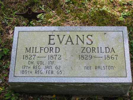 EVANS, ZORILDA - Brown County, Ohio | ZORILDA EVANS - Ohio Gravestone Photos