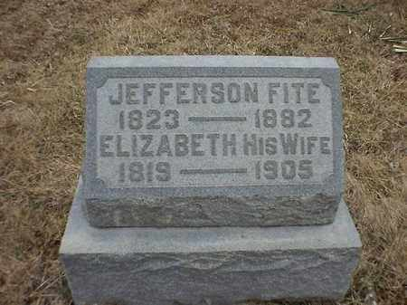 FITE, JEFFERSON - Brown County, Ohio | JEFFERSON FITE - Ohio Gravestone Photos