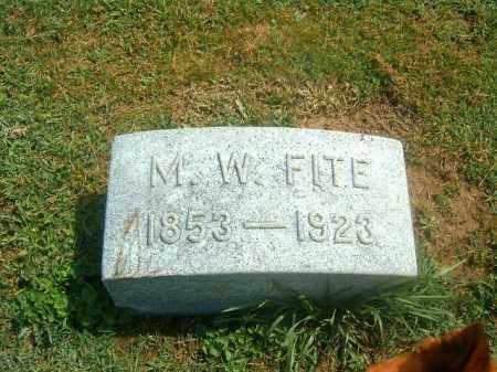 FITE, M   W - Brown County, Ohio | M   W FITE - Ohio Gravestone Photos