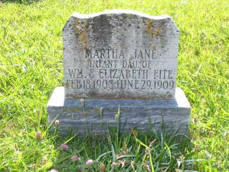 FITE, MARTHA JANE - Brown County, Ohio | MARTHA JANE FITE - Ohio Gravestone Photos