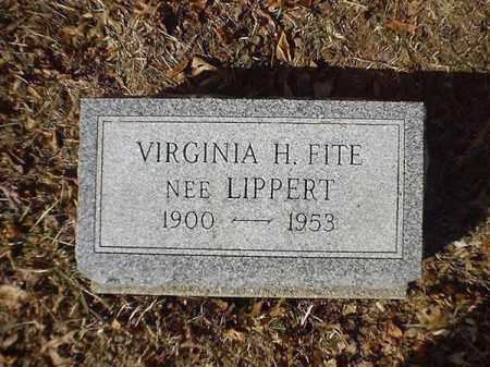 LIPPERT FITE, VIRGINIA H - Brown County, Ohio   VIRGINIA H LIPPERT FITE - Ohio Gravestone Photos