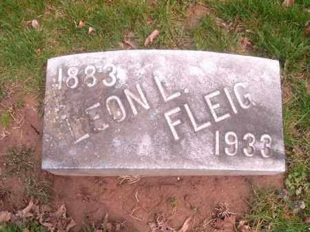FLEIG, LEON  L - Brown County, Ohio | LEON  L FLEIG - Ohio Gravestone Photos