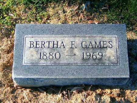 GAMES, BERTHA   F - Brown County, Ohio | BERTHA   F GAMES - Ohio Gravestone Photos