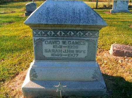 GAMES, SARAH  J - Brown County, Ohio | SARAH  J GAMES - Ohio Gravestone Photos