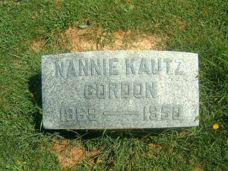 KAUTZ GORDON, NANNIE - Brown County, Ohio | NANNIE KAUTZ GORDON - Ohio Gravestone Photos
