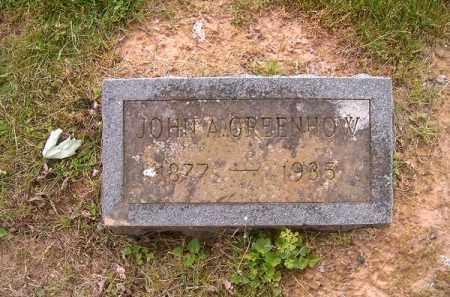 GREENHOW, JOHN  A - Brown County, Ohio   JOHN  A GREENHOW - Ohio Gravestone Photos