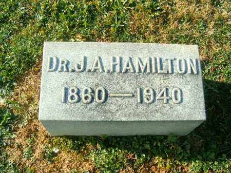 HAMILTON, J  A - Brown County, Ohio | J  A HAMILTON - Ohio Gravestone Photos