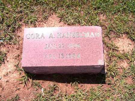 HANSELMAN, CORA  A - Brown County, Ohio | CORA  A HANSELMAN - Ohio Gravestone Photos
