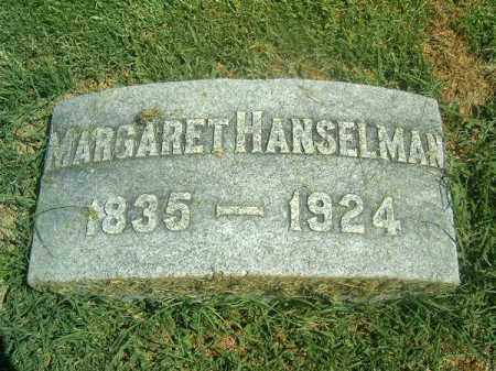 HANSELMAN, MARGARET - Brown County, Ohio | MARGARET HANSELMAN - Ohio Gravestone Photos