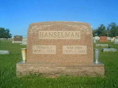 HANSELMAN, MAJORIE - Brown County, Ohio | MAJORIE HANSELMAN - Ohio Gravestone Photos