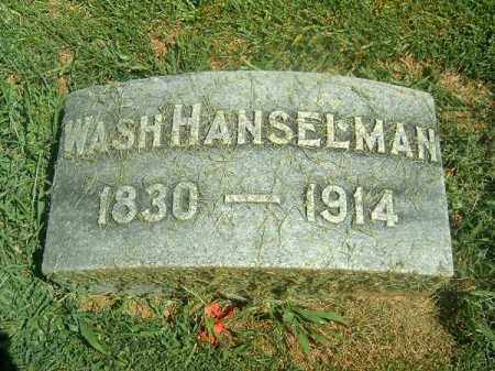 HANSELMAN, WASH - Brown County, Ohio | WASH HANSELMAN - Ohio Gravestone Photos