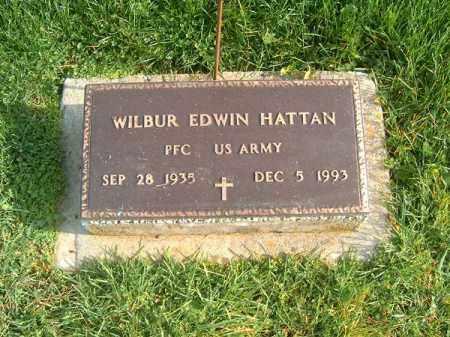 HATTAN, WILBUR  EDWIN - Brown County, Ohio | WILBUR  EDWIN HATTAN - Ohio Gravestone Photos