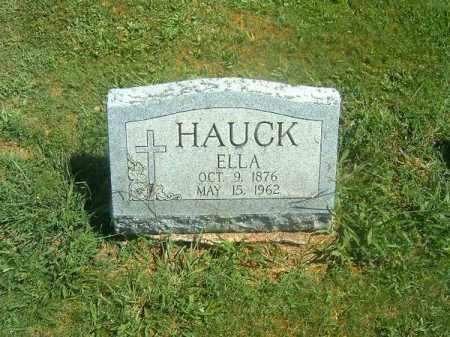 HAUCK, ELLA - Brown County, Ohio | ELLA HAUCK - Ohio Gravestone Photos