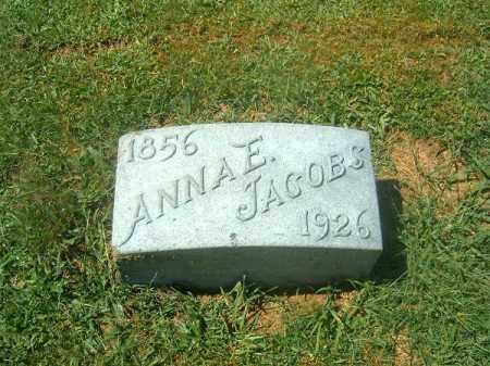 JACOBS, ANNA  E - Brown County, Ohio | ANNA  E JACOBS - Ohio Gravestone Photos