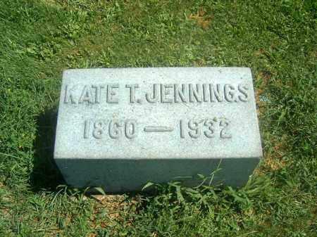 JENNINGS, KATE  T - Brown County, Ohio | KATE  T JENNINGS - Ohio Gravestone Photos