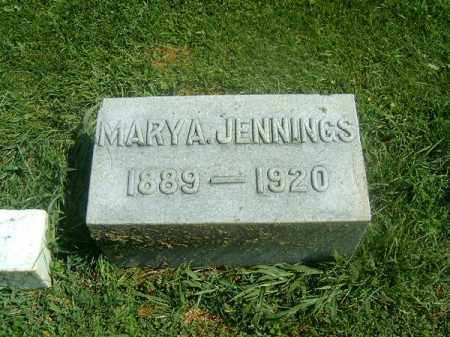 JENNINGS, MARY  A - Brown County, Ohio | MARY  A JENNINGS - Ohio Gravestone Photos