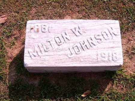 JOHNSON, MILTON   W - Brown County, Ohio | MILTON   W JOHNSON - Ohio Gravestone Photos