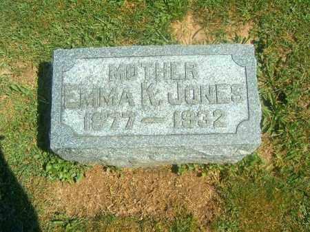 JONES, EMMA  K - Brown County, Ohio | EMMA  K JONES - Ohio Gravestone Photos
