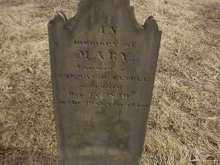 KINDLE, MARY - Brown County, Ohio | MARY KINDLE - Ohio Gravestone Photos