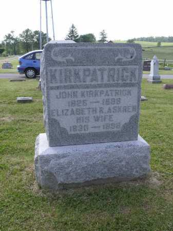 KIRKPATRICK, ELIZABETH R - Brown County, Ohio | ELIZABETH R KIRKPATRICK - Ohio Gravestone Photos
