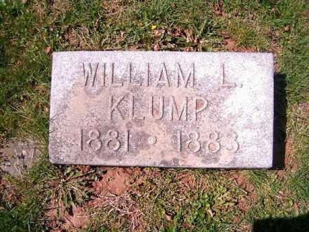 KLUMP, WILLIAM  L - Brown County, Ohio | WILLIAM  L KLUMP - Ohio Gravestone Photos