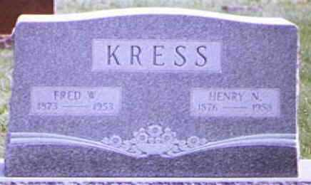 KRESS, FRED - Brown County, Ohio | FRED KRESS - Ohio Gravestone Photos