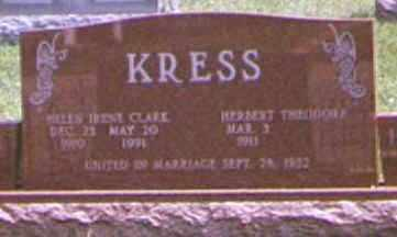 KRESS, HERBERT - Brown County, Ohio | HERBERT KRESS - Ohio Gravestone Photos