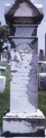 KRESS, MARY - Brown County, Ohio | MARY KRESS - Ohio Gravestone Photos