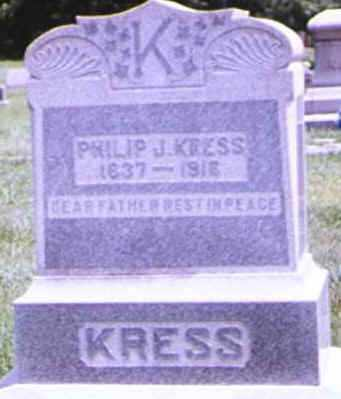 KRESS, PHILIP - Brown County, Ohio | PHILIP KRESS - Ohio Gravestone Photos