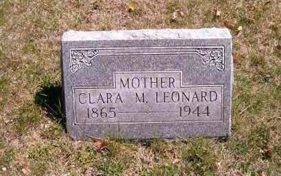 LEONARD, CLARA  M - Brown County, Ohio | CLARA  M LEONARD - Ohio Gravestone Photos